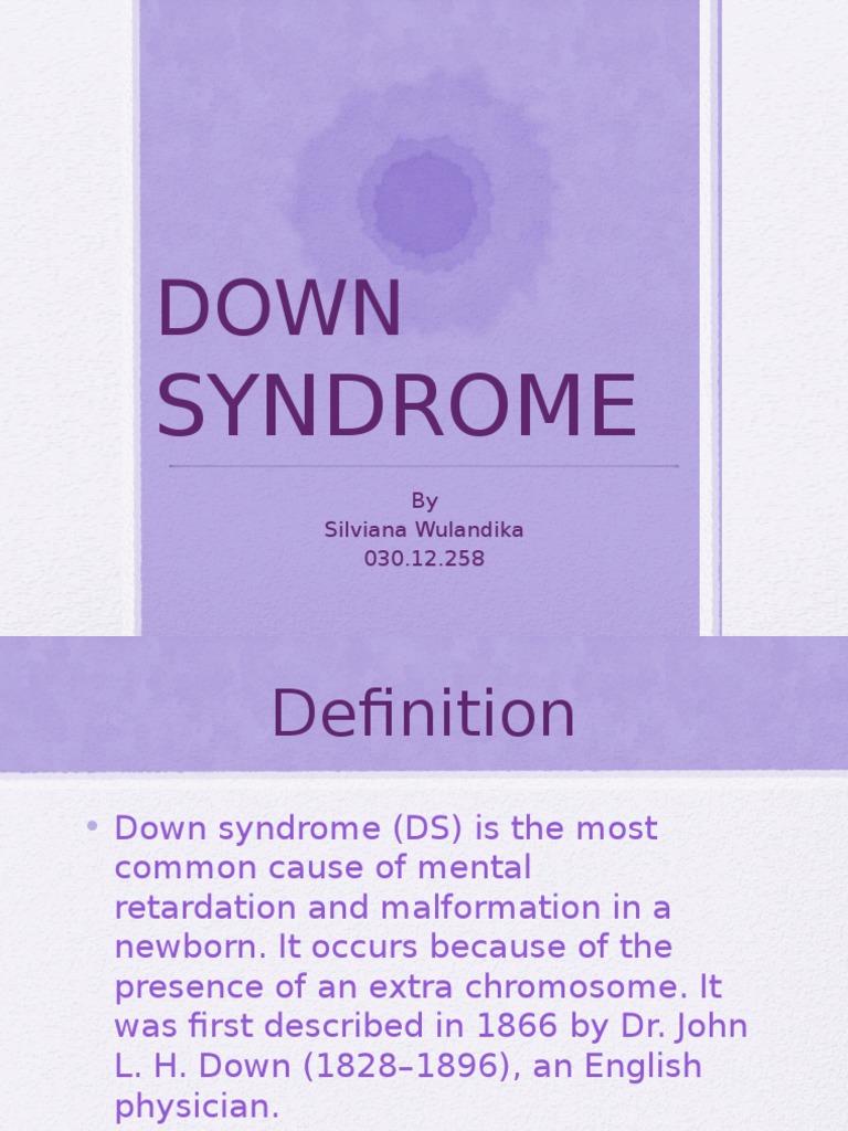 down syndrome pptx | Syndrome | Down Syndrome