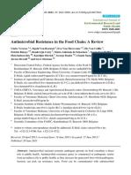 Antibiotic Resistance in Food