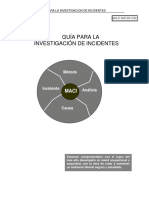 ICAM Guía de Investigación de Accidentes