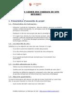 LaFabriqueduNet Cahier Des Charges de Site Internet