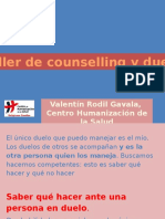 Taller de Counselling y Duelo 2016