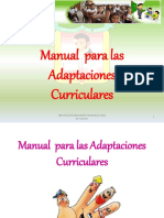 Cartilla Adaptaciones Curriculares Nee