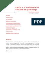 La Comunicación y La Interacción en Contextos Virtuales de Aprendizaje