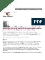 Posible Ubicuidad Espacio-temporal de la triada Pareidolia - Apofenia - Hierofania, como probable origen de la sacralización de algunos elementos del paisaje. Patricio Bustamante