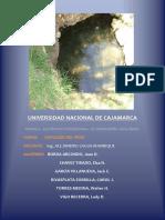Relación Entre La Geología y La Presencia de Manantiales en El Caserío La Paccha