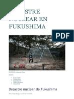 Desastre nuclear de Fukushima