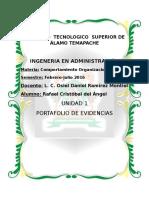 Unidad 1 Portafolio Comportamiento Organizacional
