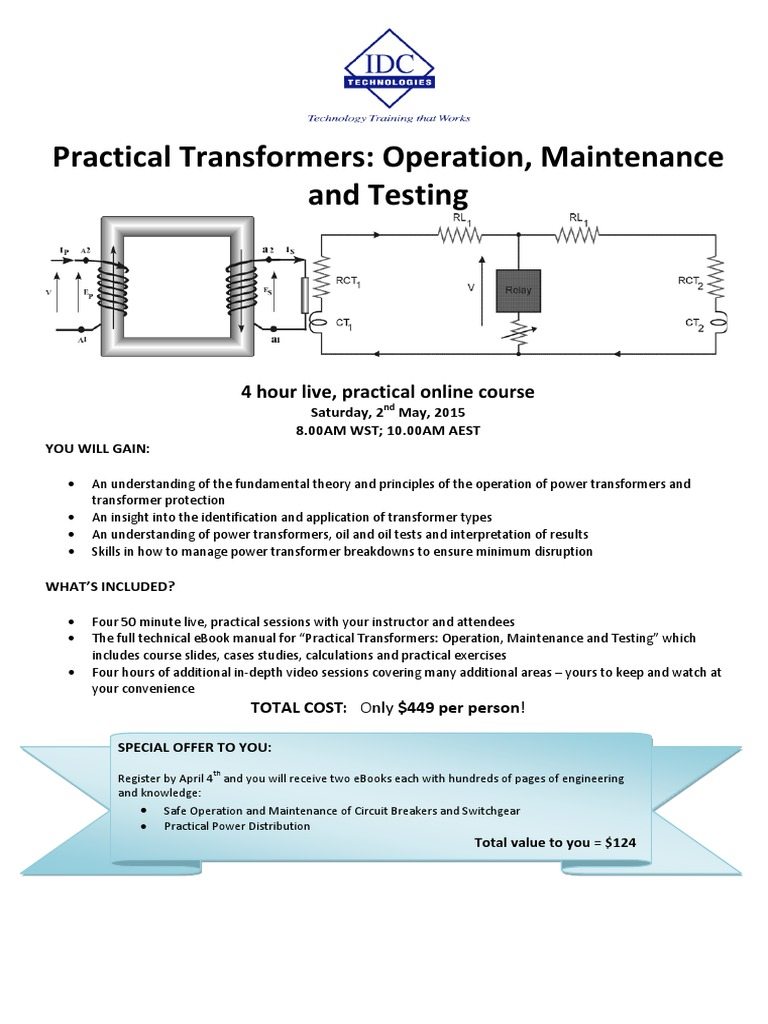 Transformers Operation Maintenance Testing Online Ea Transformer Cost Of Electromagnetic Relay Physical Quantities
