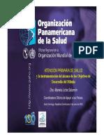 atencion primaria de salud y la instrumentacion del alcance de los objetivos de desarrollo  del milenio