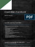 disabilities handbook