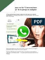 Ver Las Conversaciones de WhatsApp