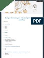 Comparitive Study on Imitation Jewellery & Gold Jewellery