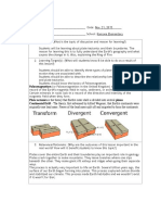 lesson plan template-plate tectonics