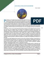 Pedagogía de La Tierra y Cultura de La Sustentabilidad