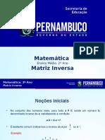 ProfessorAutor_Matemática_Matemática I 2º Ano I Médio_Matriz Inversa