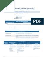 Perfil Competencia Administrativo de Obra