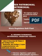 Evolucion Legal Del Regimen Patrimonial Matrimonial Argentino