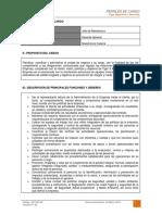 Dct-001.in Perfil de Cargo Jefe de Maestranza
