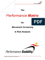 Performance Matrix of Strength and Conditioning