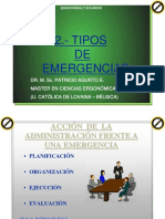2 Tipos de Emergencias