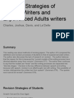 revision strategies of student writers and experienced adults writers