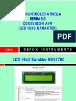 Modul Mikrokontroler 02 Tampilan Lcd Karakter