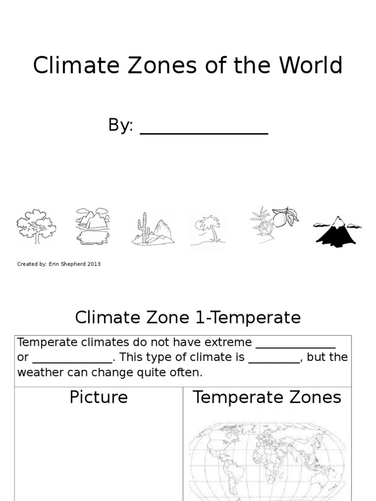 climate zones booklet Climate – Climate Zones Worksheet
