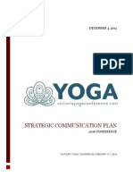 victoria yoga conference 2016 strategic communications plan