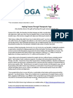 yoga for healing press release