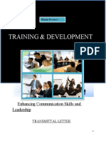 Traning and Development