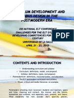13th Elt National Conference - Curriculum Development and Syllabus Design in the Postmodern Era