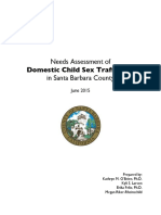 Needs Assessment of Domestic Child Sex Trafficking in Santa Barbara County
