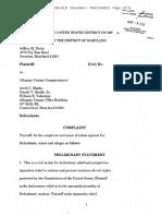 Davis v Shade D-MD Complaint 3-8-2016 (3)