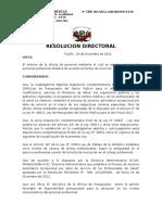 Resolucion de Nivelacion Obstetras 2012
