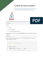 Calcular El Índice de Masa Corporal Con Java
