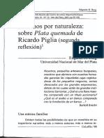 Asesinos Por Naturaleza - Edgardo Berg (Sobre Plata Quemada de Piglia)