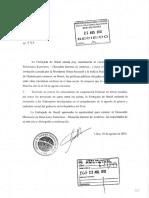 Nota diplomática de invitación a Nadine Heredia