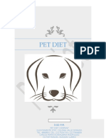 Pet Diet Catálogo