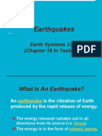 earthquakes notes