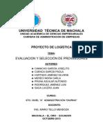 Informe (Evaluación y Selección de Proveedores)