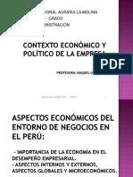Entorno de La Empresa, Aspectos Económicos