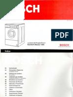 Manual Bosch Lava Roupa Komfort Klasse 1000