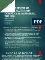 Disinvestment of Bharat Aluminium Company & Industrial Turmoil