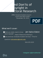 Dos and Donts of Copyright in Doctoral Research