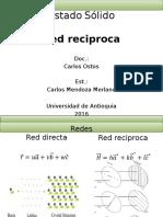 Presentación Red Reciproca y Zonas de Brillouin