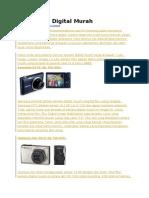 Rekomendasi Kamera Digital Murah Bagus 2015
