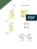 Proyección Cíclica de Fischer Proyección de Haworth-Galactosa, Fructosa, Glucosa