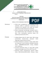 Sk Bukti Pelaksanaan Monitoring Kepala Puskesmas Dan Penanggung Jawab Program