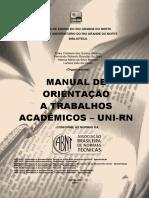 Manual Orientacao Trabalhos Academicos UNIRN 2015555555555555555555555555