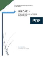 ORGANIZACIÓN DE DATOS DE INFORMACIÓN